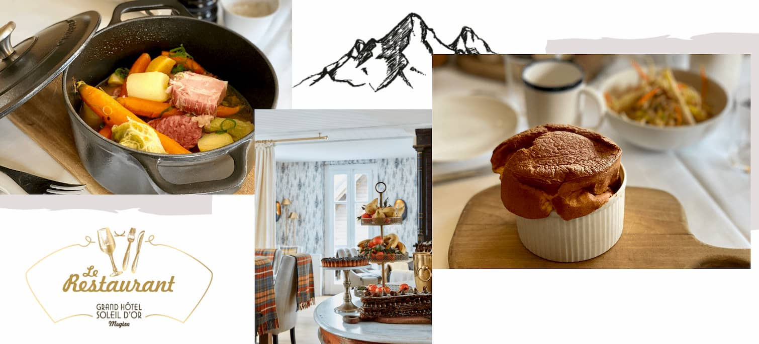 Il ristorante Grand Hôtel du Soleil d'Or a Megève