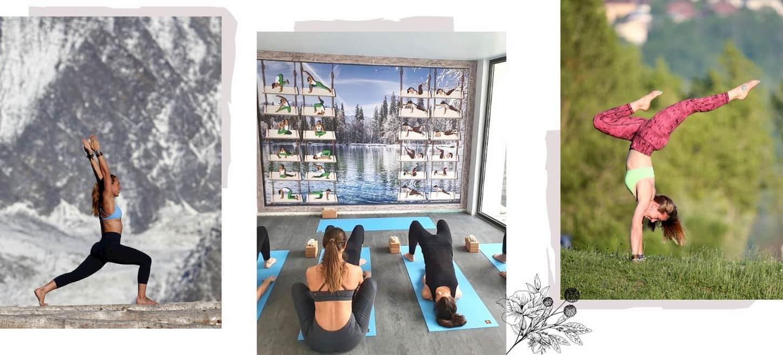 Classes de yoga à Megève face aux Alpes au Grand Hotel du Soleil d'Or