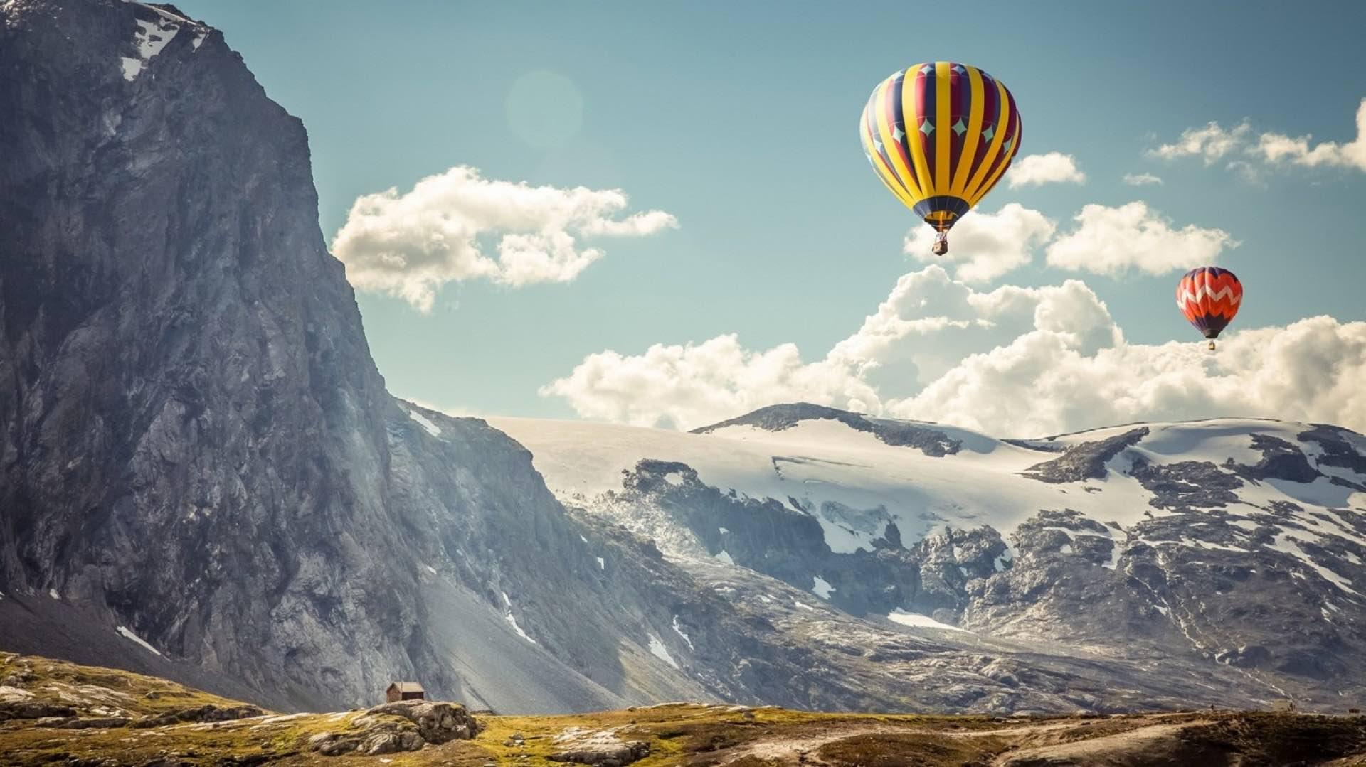 Megève insolite : vol en montgolfière