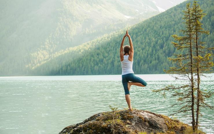 Yoga à Megève en été