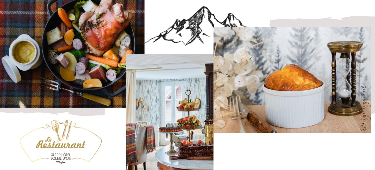 Spécialités d'un hôtel restaurant de Megève