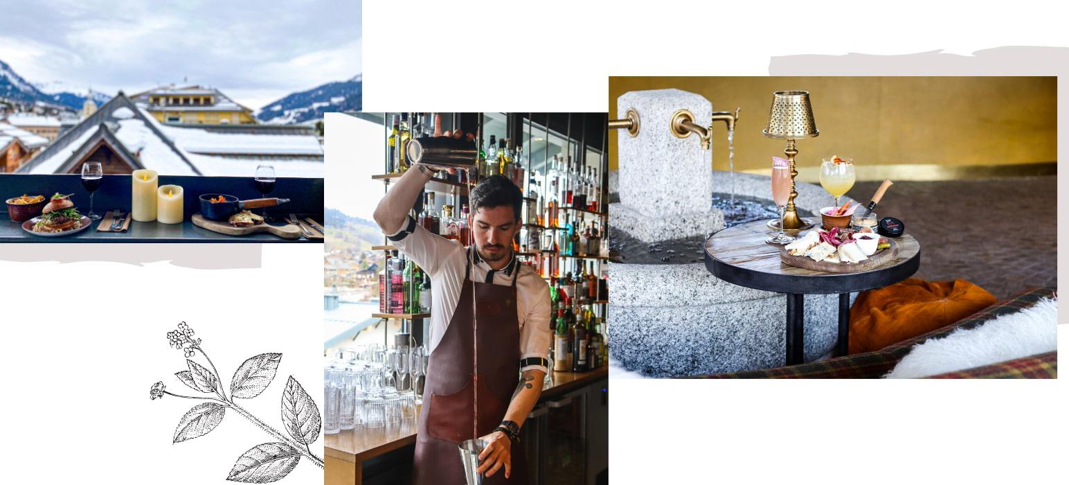 Bar panoramique à Megève
