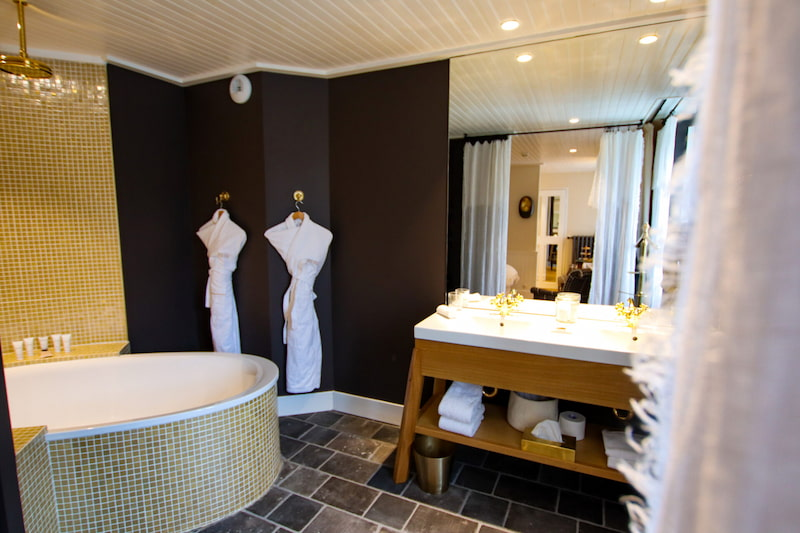 Chambre de luxe dans un hôtel à Megève
